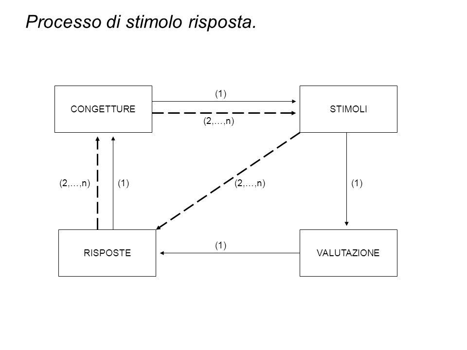 Processo di stimolo risposta.