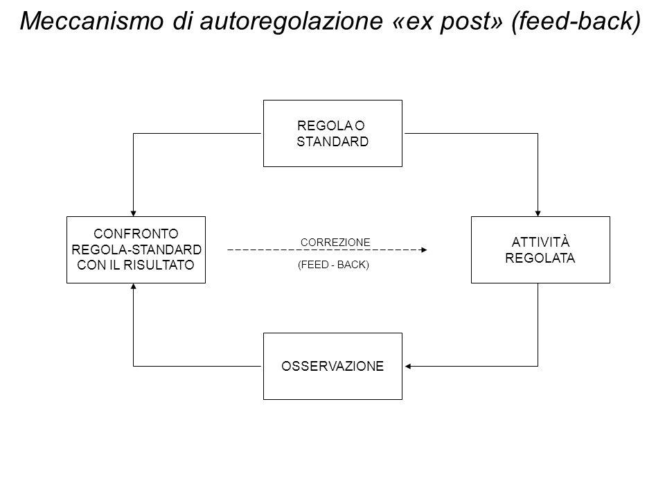 Meccanismo di autoregolazione «ex post» (feed-back)