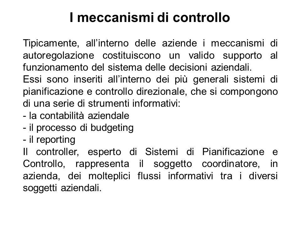 I meccanismi di controllo