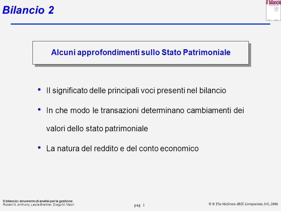 Bilancio 2 Alcuni approfondimenti sullo Stato Patrimoniale