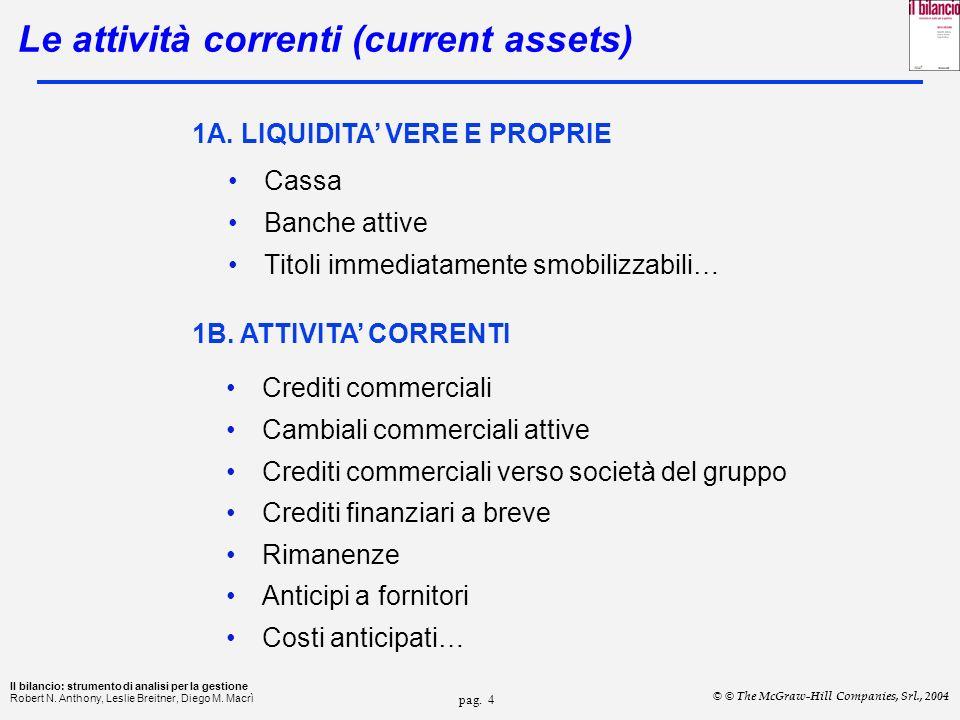Le attività correnti (current assets)