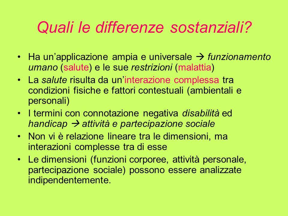 Quali le differenze sostanziali