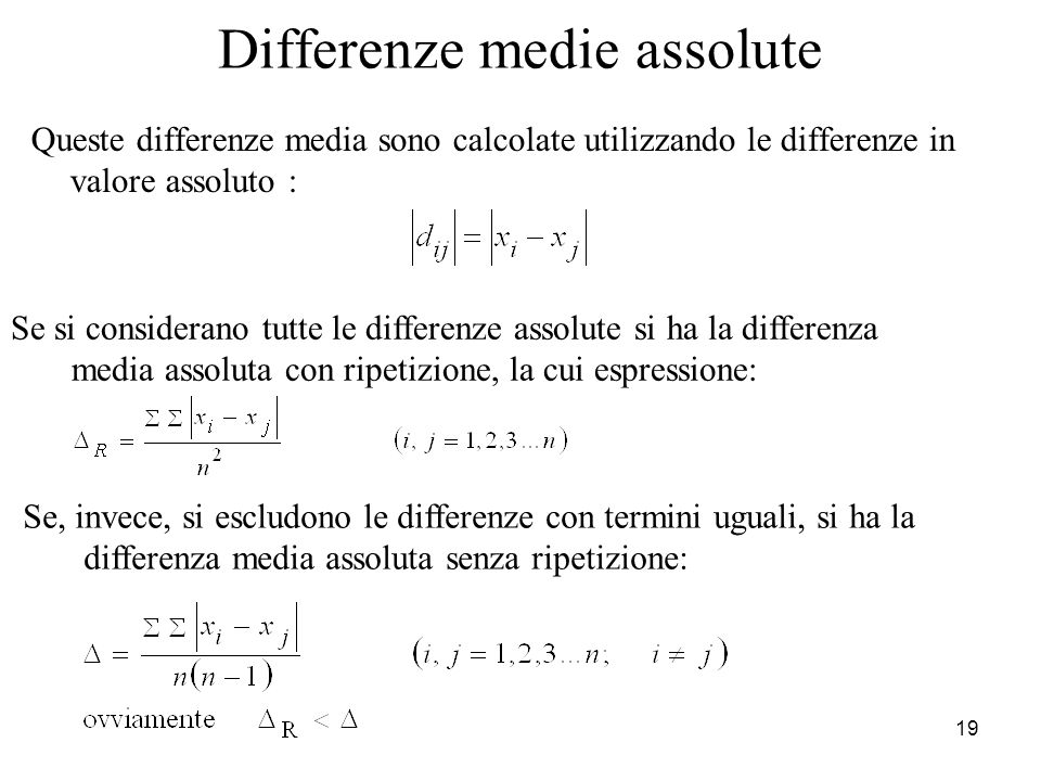 Differenze medie assolute