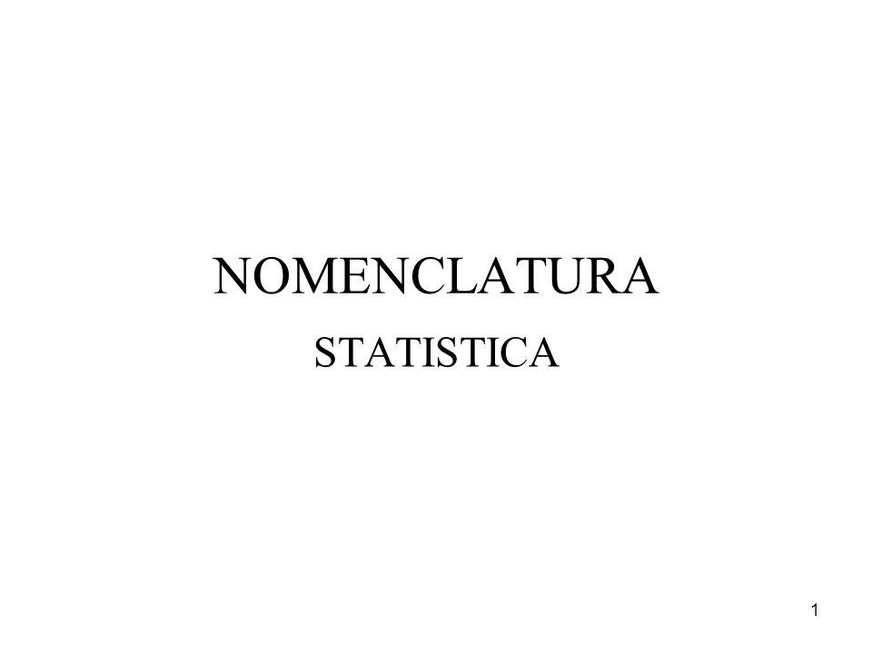 NOMENCLATURA STATISTICA