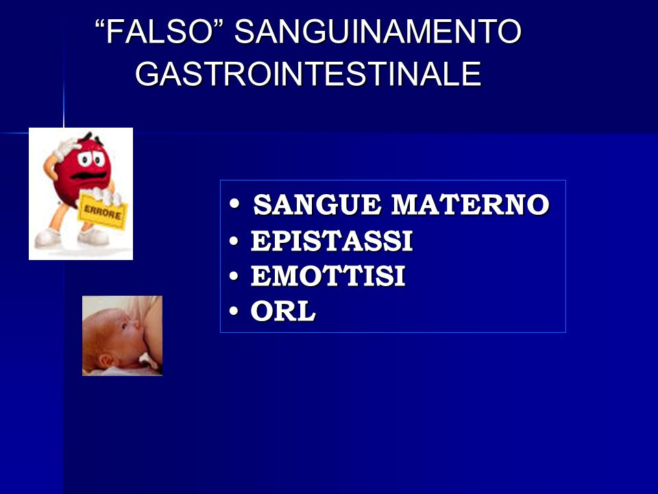 FALSO SANGUINAMENTO GASTROINTESTINALE