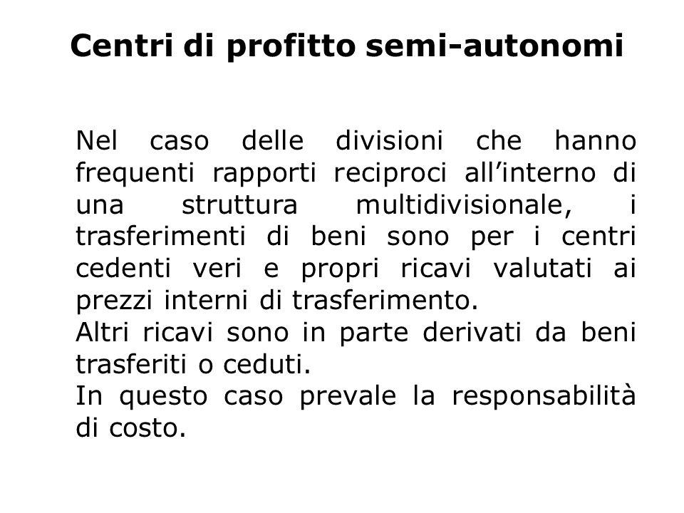 Centri di profitto semi-autonomi