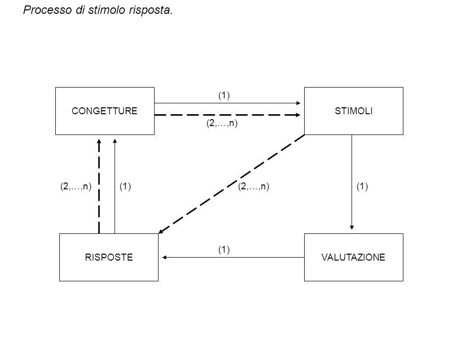 CONGETTURE (1) STIMOLI (2,…,n) (2,…,n) (1) (2,…,n) (1) RISPOSTE