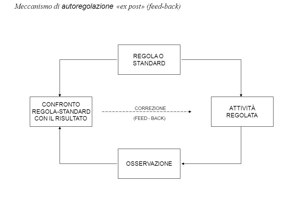 REGOLA O STANDARD CONFRONTO ATTIVITÀ REGOLA-STANDARD REGOLATA