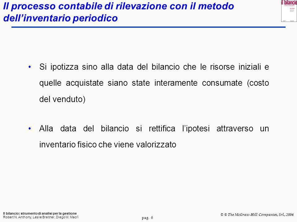 Il processo contabile di rilevazione con il metodo dell'inventario periodico