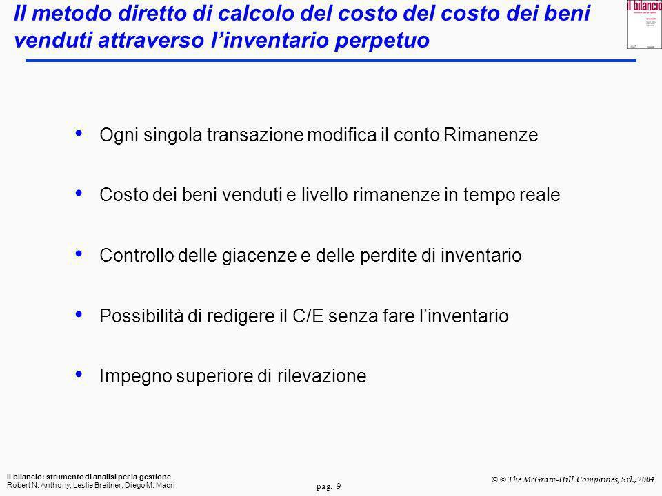 Il metodo diretto di calcolo del costo del costo dei beni venduti attraverso l'inventario perpetuo