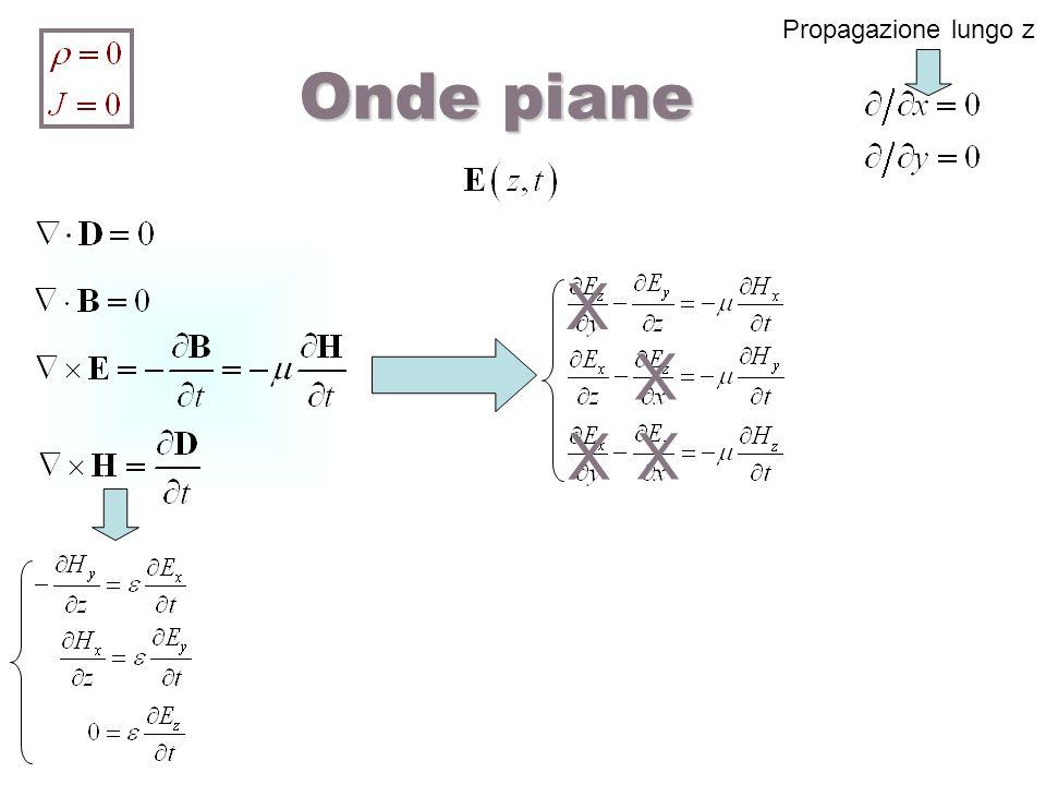 Propagazione lungo z Onde piane X X X X