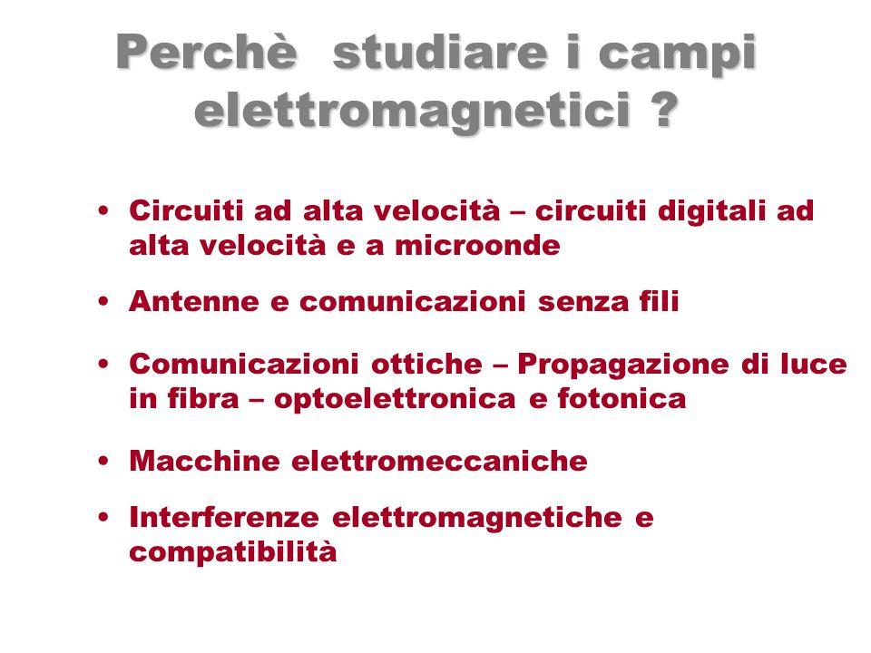 Perchè studiare i campi elettromagnetici
