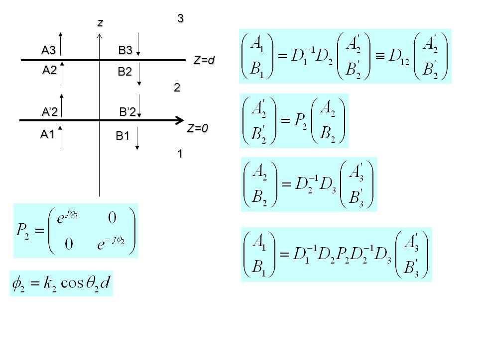 3 z A3 B3 Z=d A2 B2 2 A'2 B'2 Z=0 A1 B1 1