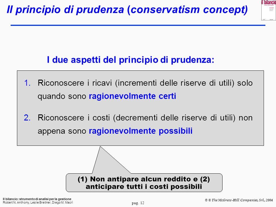 Il principio di prudenza (conservatism concept)