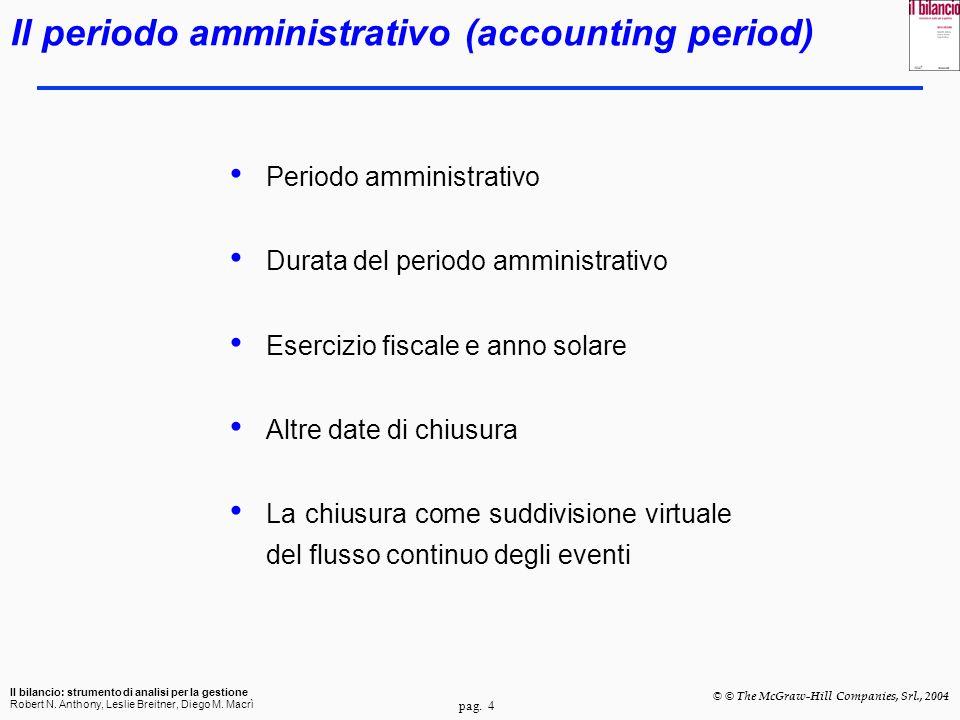 Il periodo amministrativo (accounting period)