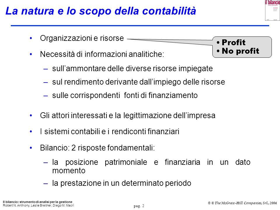 La natura e lo scopo della contabilità
