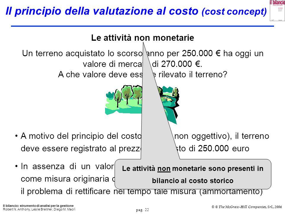 Il principio della valutazione al costo (cost concept)