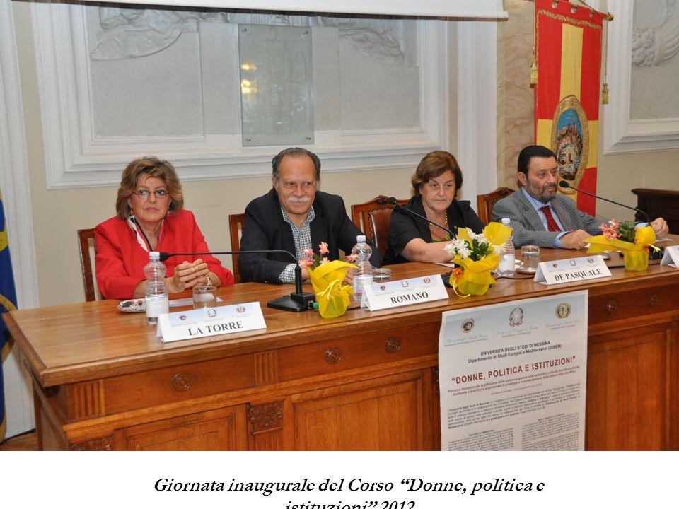 Giornata inaugurale del Corso Donne, politica e istituzioni 2012