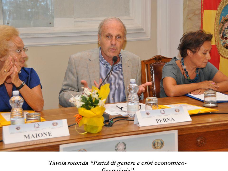 Tavola rotonda Parità di genere e crisi economico-finanziaria