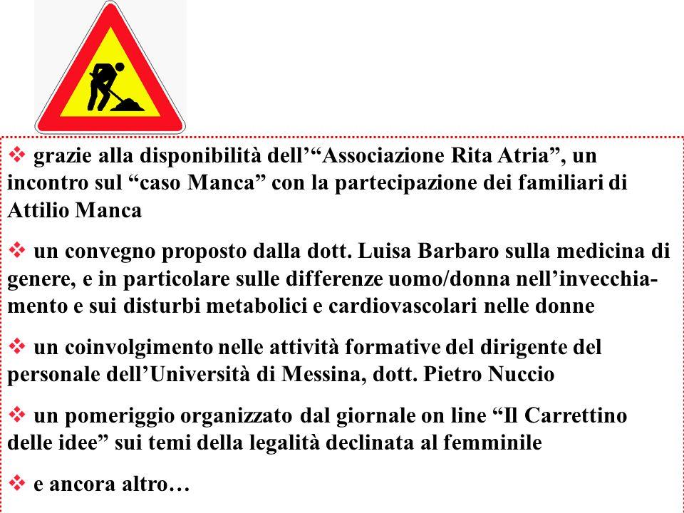 grazie alla disponibilità dell' Associazione Rita Atria , un incontro sul caso Manca con la partecipazione dei familiari di Attilio Manca