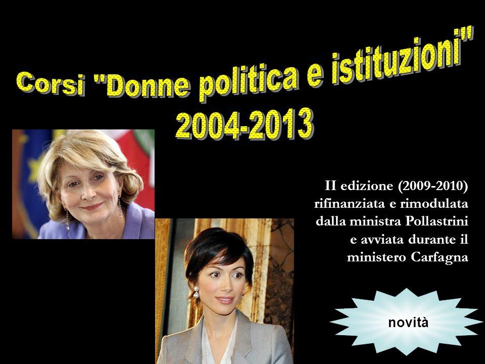 Corsi Donne politica e istituzioni