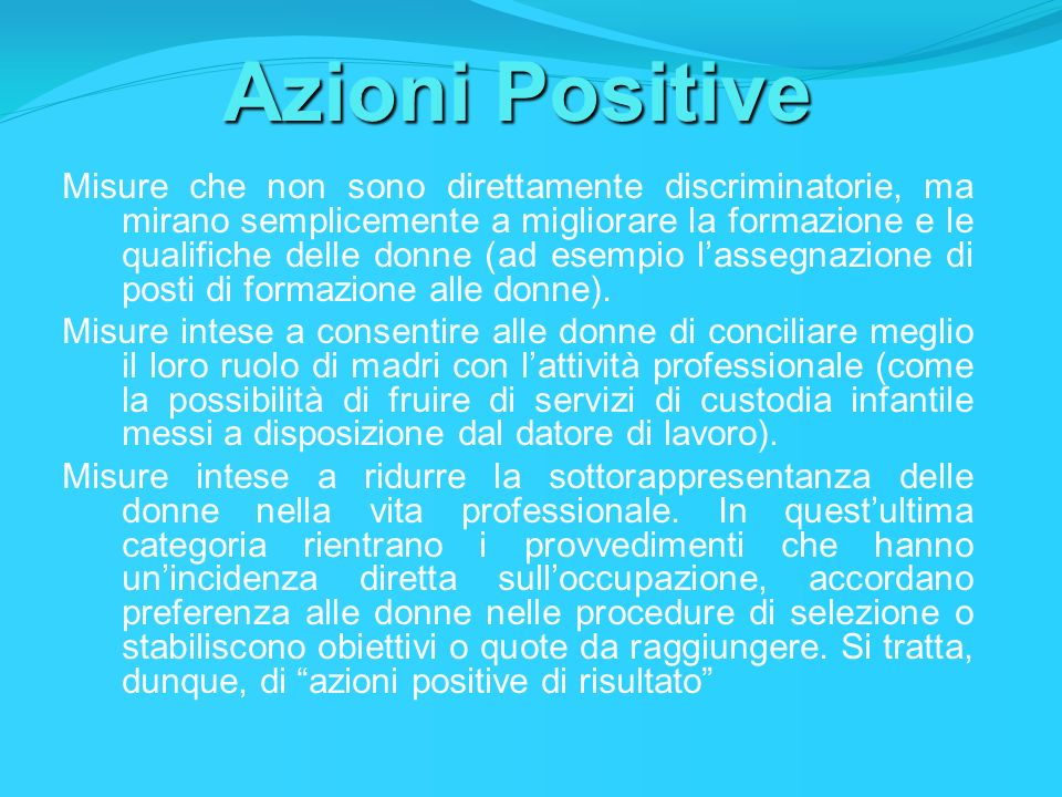 Azioni Positive