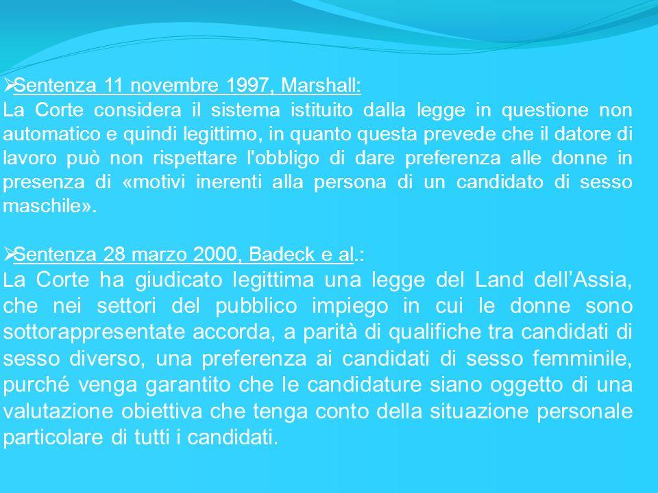 Sentenza 11 novembre 1997, Marshall: