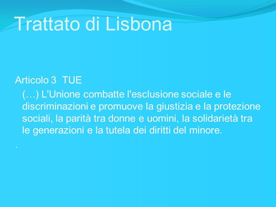 Trattato di Lisbona Articolo 3 TUE