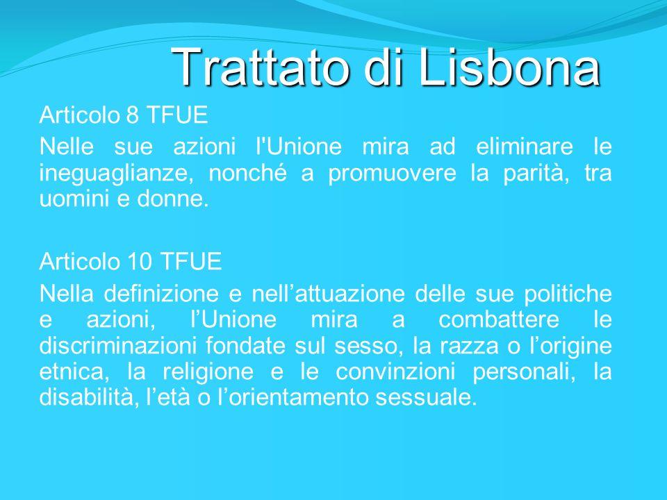 Trattato di Lisbona Articolo 8 TFUE