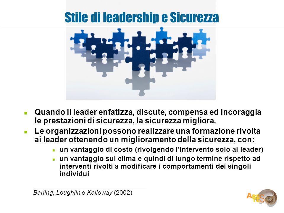 Stile di leadership e Sicurezza