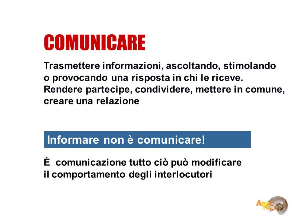 COMUNICARE Informare non è comunicare!