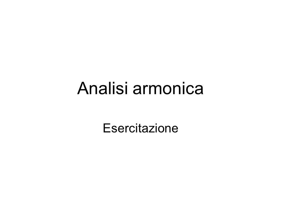 Analisi armonica Esercitazione