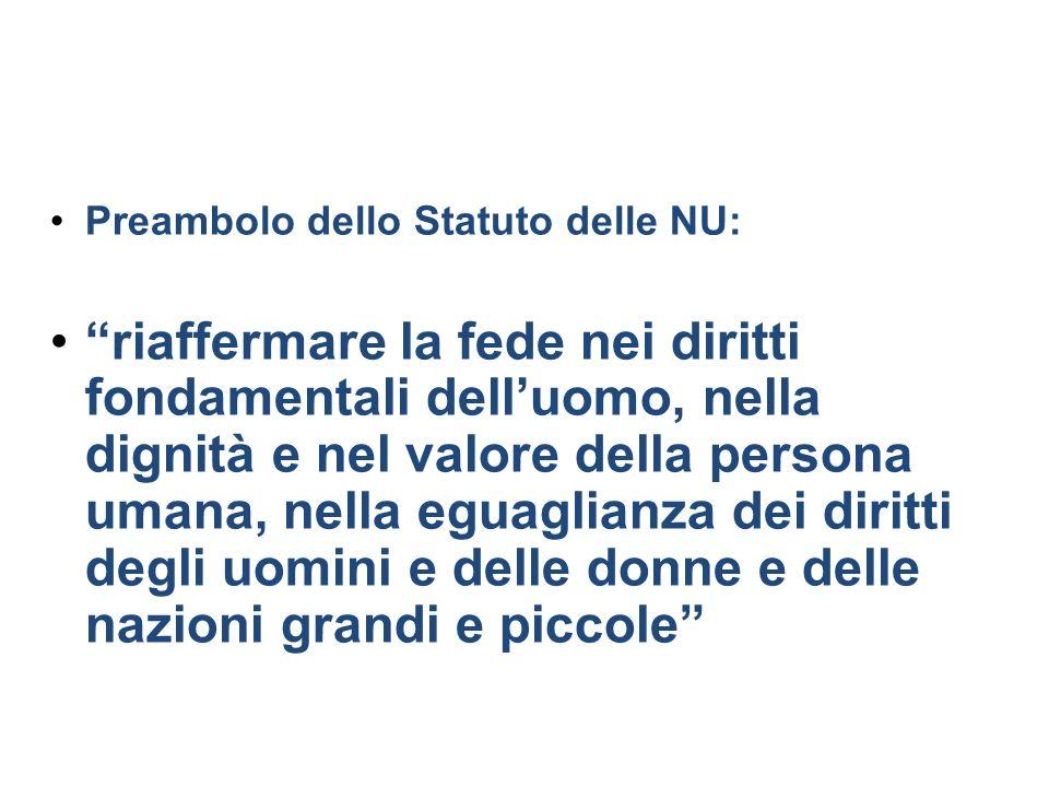 Preambolo dello Statuto delle NU: