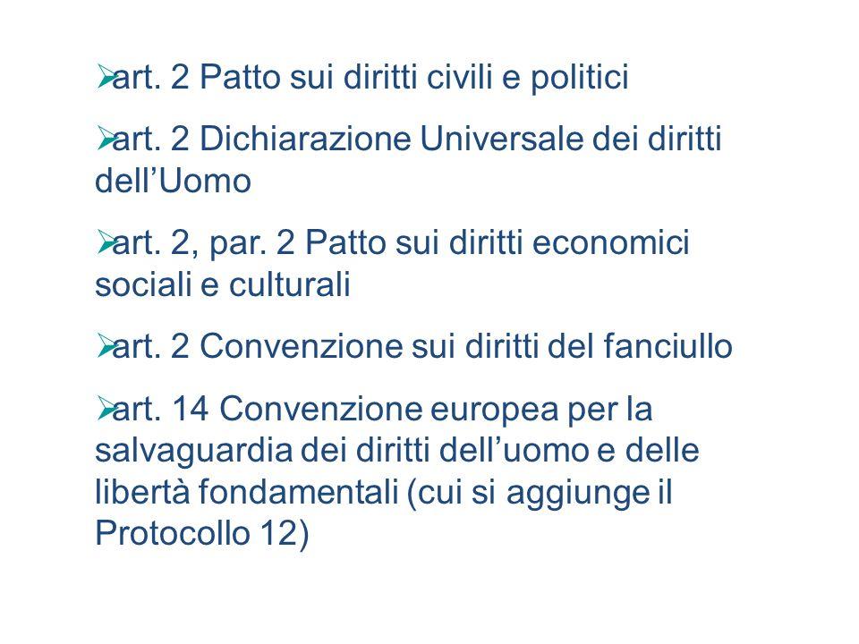 art. 2 Patto sui diritti civili e politici