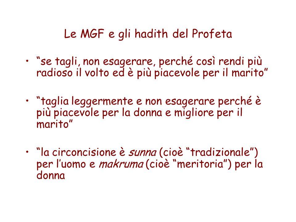 Le MGF e gli hadith del Profeta