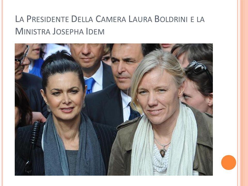 La Presidente Della Camera Laura Boldrini e la Ministra Josepha Idem