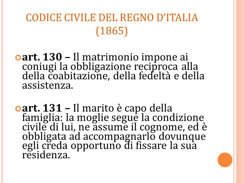 CODICE CIVILE DEL REGNO D'ITALIA (1865)