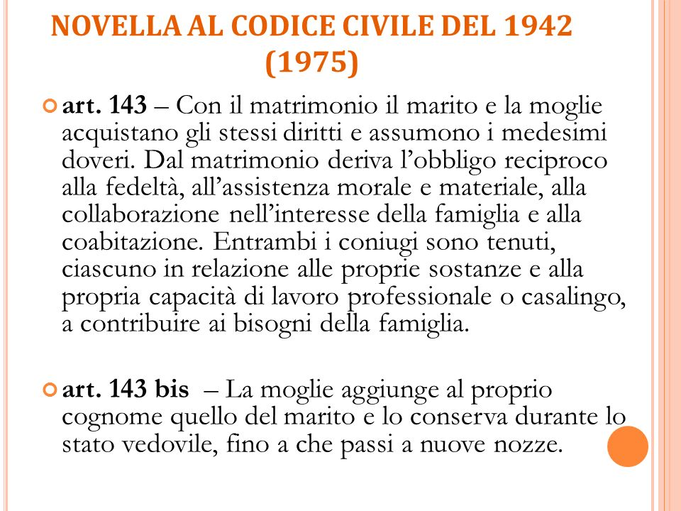 Novella al Codice civile del 1942 (1975)