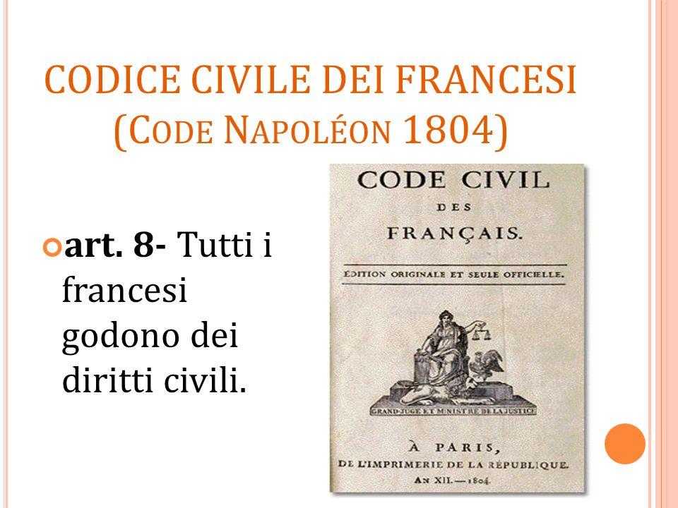 CODICE CIVILE DEI FRANCESI (Code Napoléon 1804)