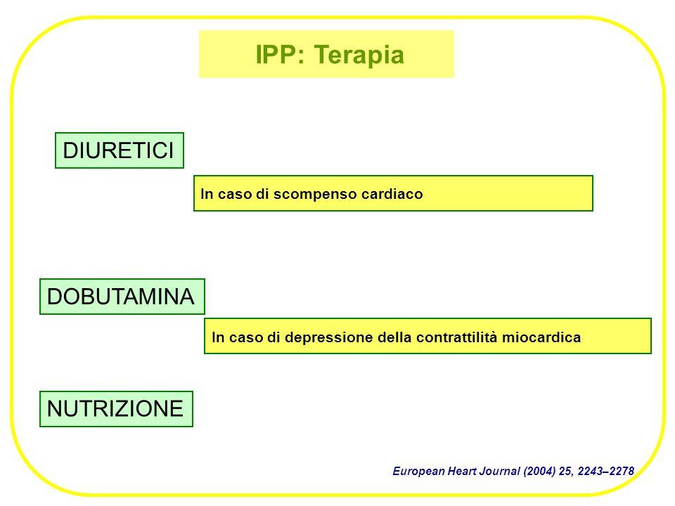 IPP: Terapia DIURETICI DOBUTAMINA NUTRIZIONE