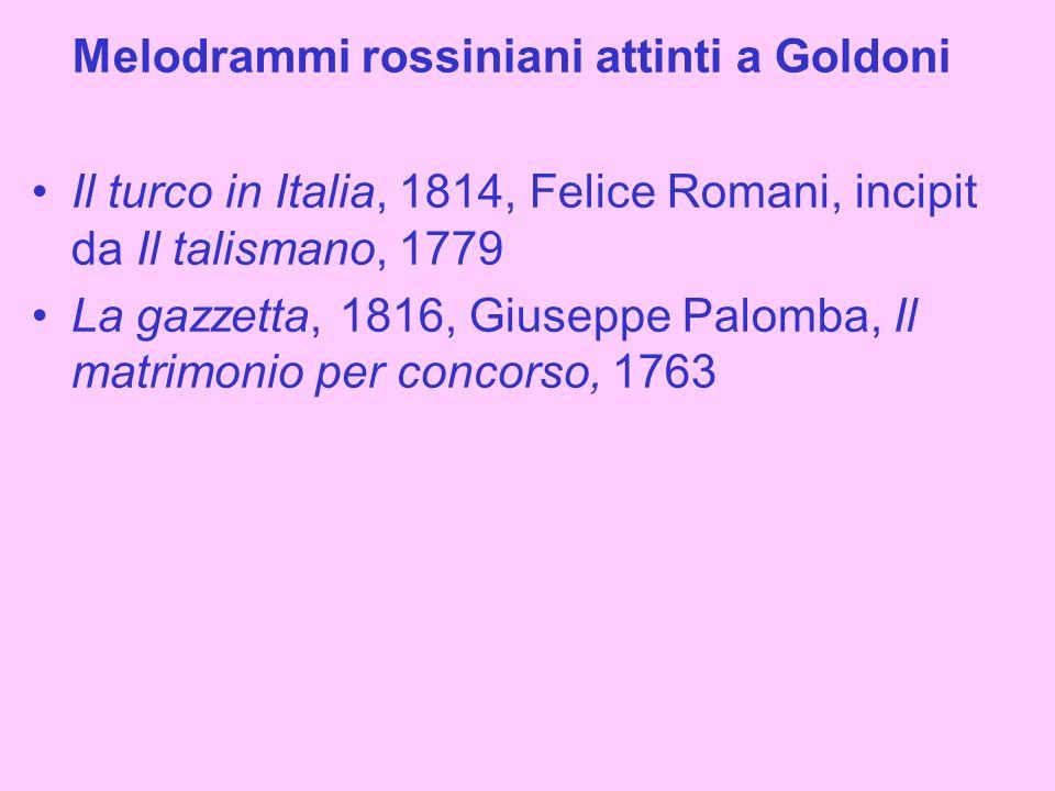Melodrammi rossiniani attinti a Goldoni