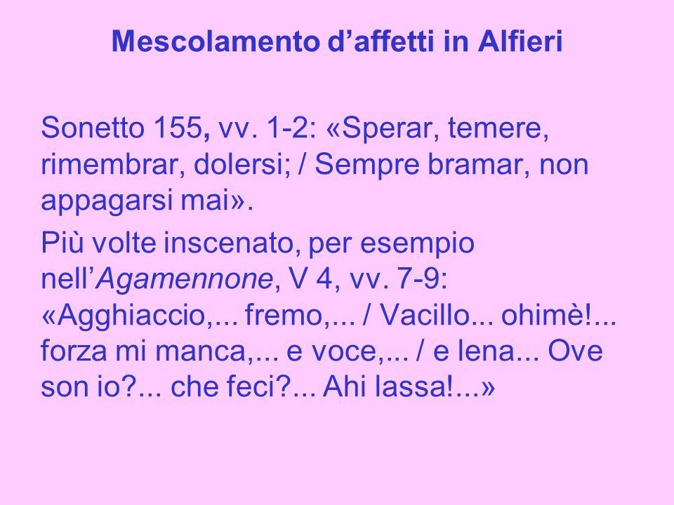 Mescolamento d'affetti in Alfieri Sonetto 155, vv