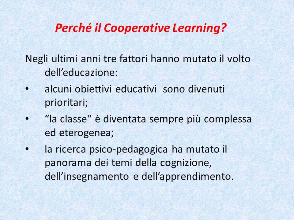 Perché il Cooperative Learning