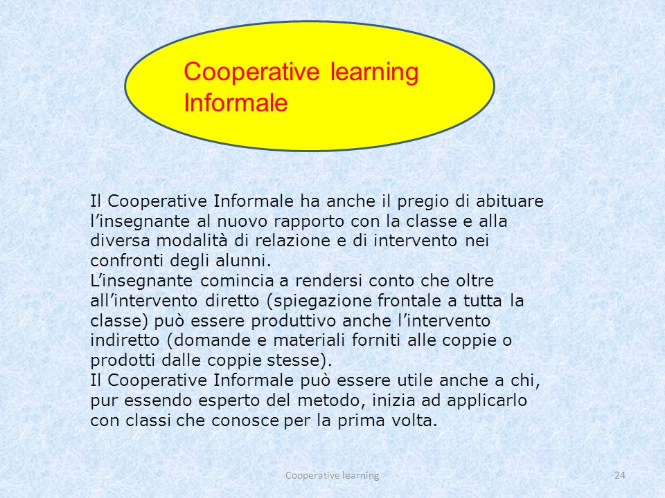 Cooperative learning Informale