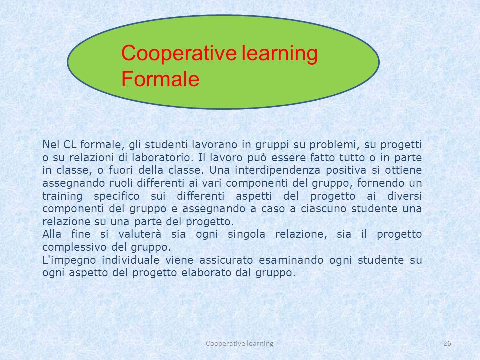 Cooperative learning Formale