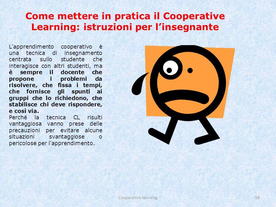 Come mettere in pratica il Cooperative Learning: istruzioni per l'insegnante