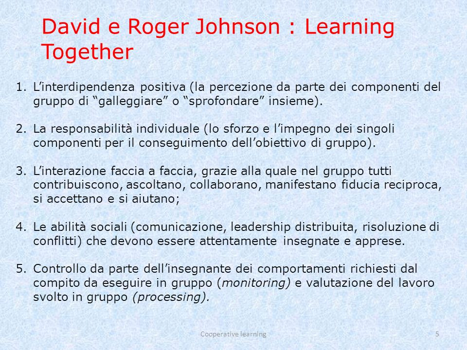 David e Roger Johnson : Learning Together