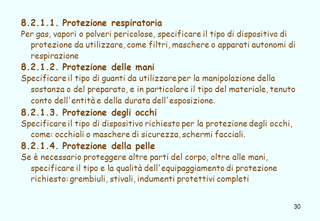 8.2.1.1. Protezione respiratoria