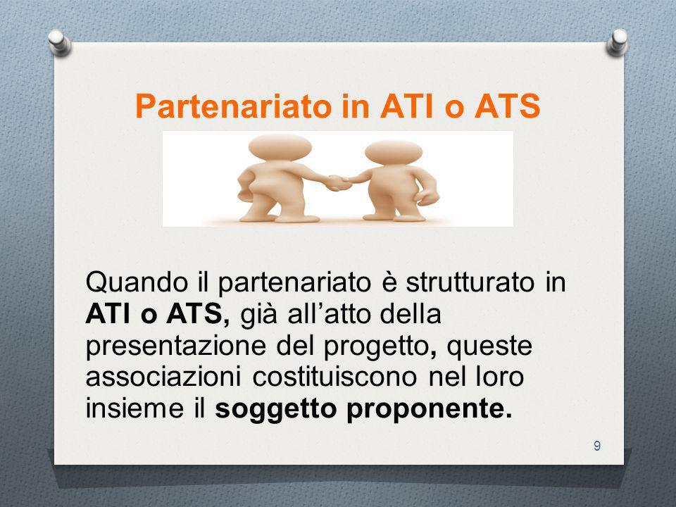 Partenariato in ATI o ATS