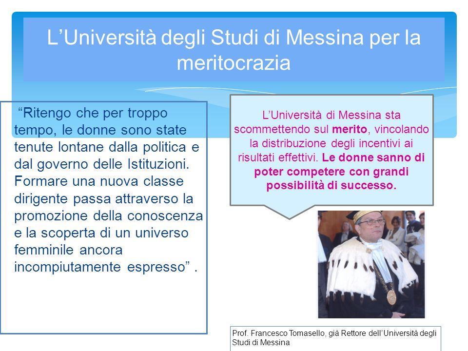L'Università degli Studi di Messina per la meritocrazia